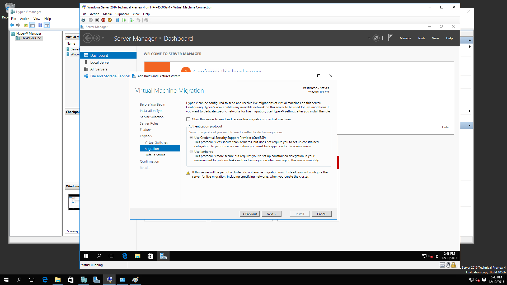 Windows 2016 R2 TP4 Nested Virtualization 8